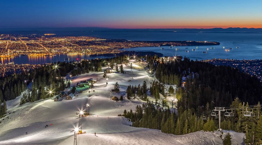 View from Grouse Mountain at sunset