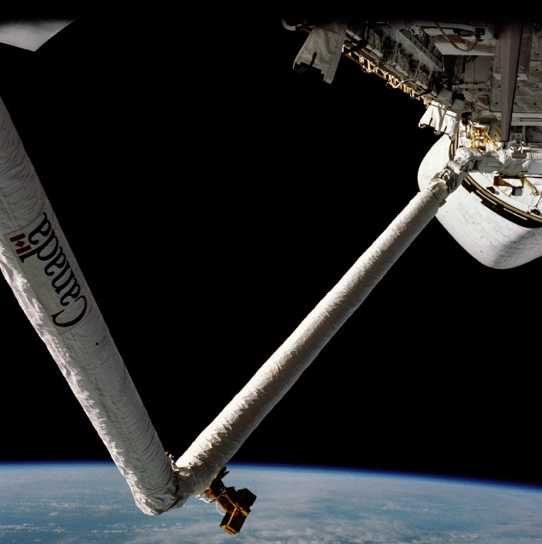 Canadarm in space