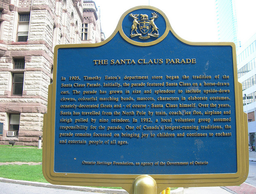 Santa Claus Parade Historical Marker By jimmywayne on Flickr