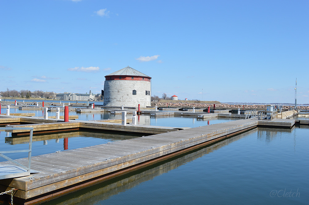 Confederation Basin in winter - Kingston Waterfront
