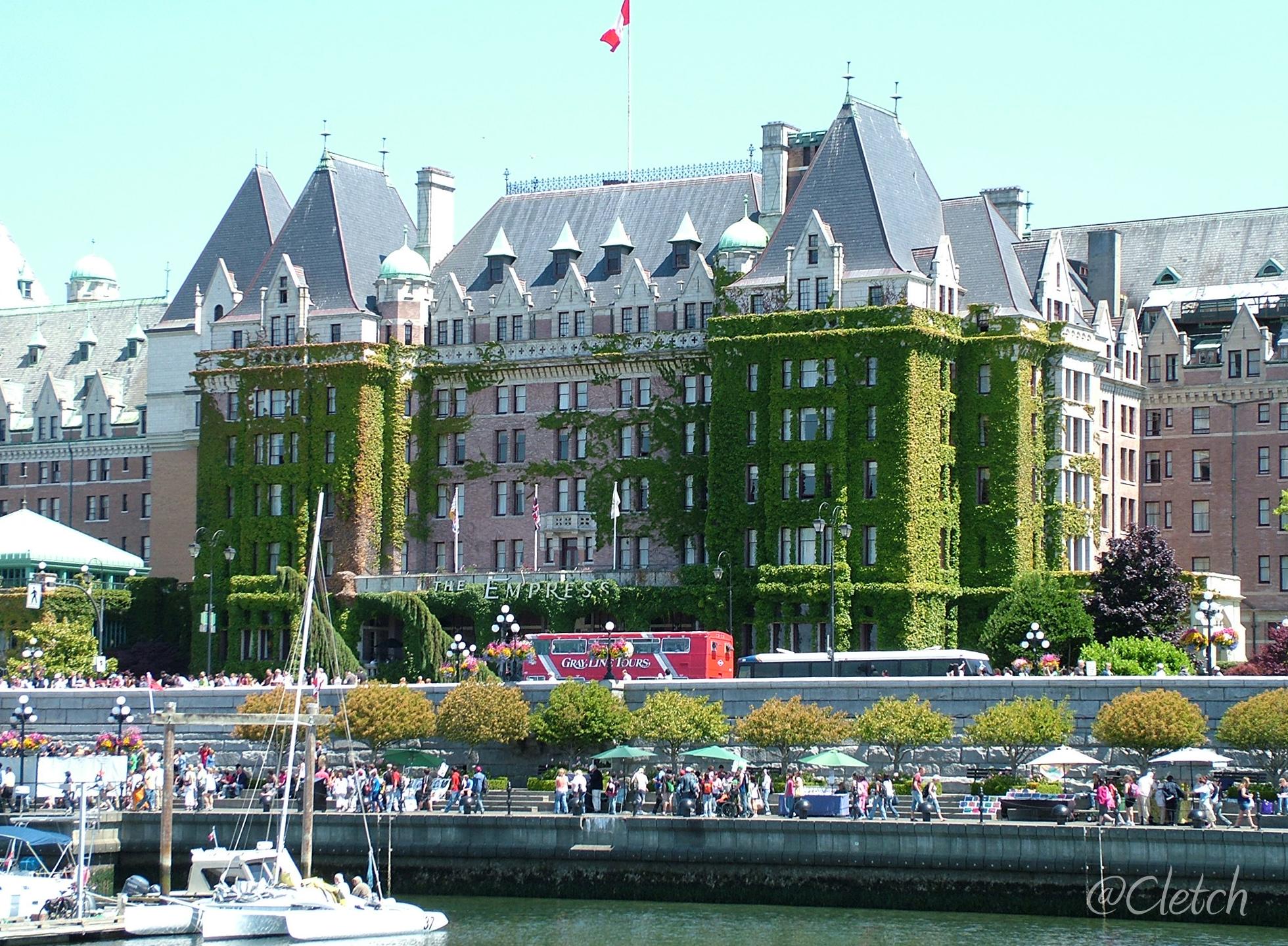 Empress Hotel Overlooks Victoria Harbour