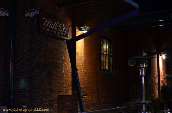 Mill St Brewery at Night