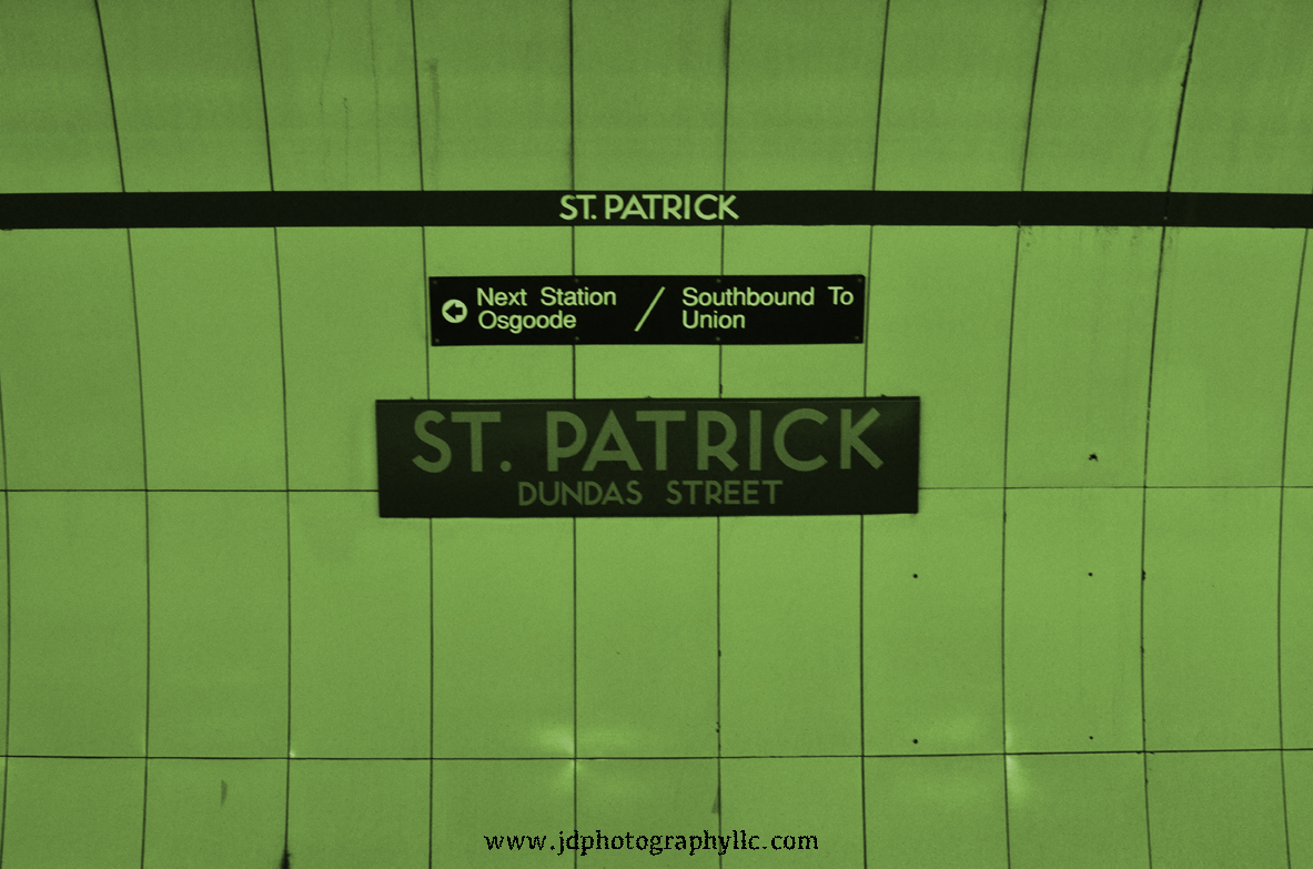 St Patrick Subway Toronto ON