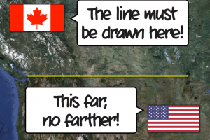 Canada & The United States: Bizarre Borders