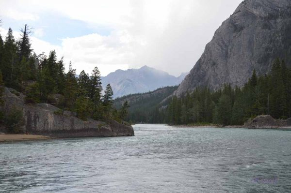 Bow River in Banff, Alberta