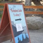 Moraine Lake Trading Company sign