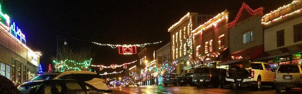 Ladysmith Festival of Lights Main Street