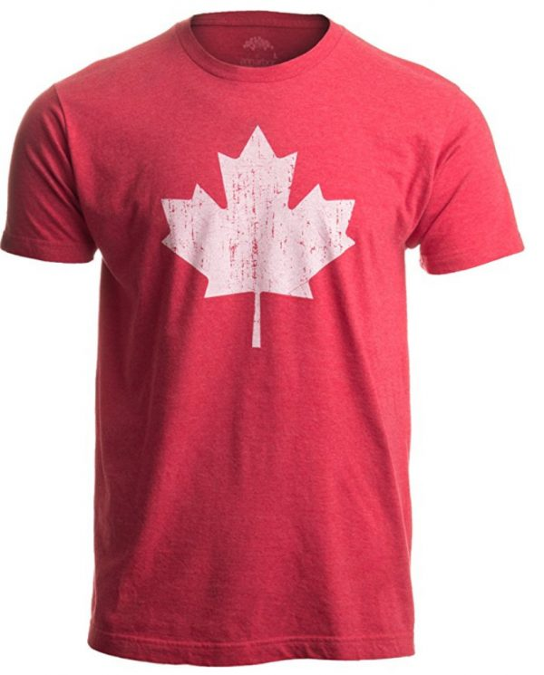 Vintage Style, Retro-Feel Canadian Maple Leaf Unisex T-shirt
